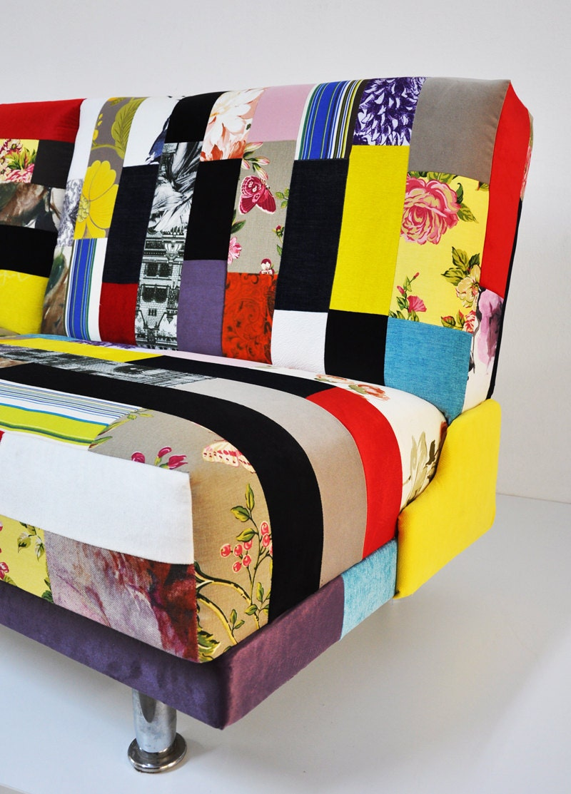 Colorful sofa bed patchwork - What is a sofa bed ...