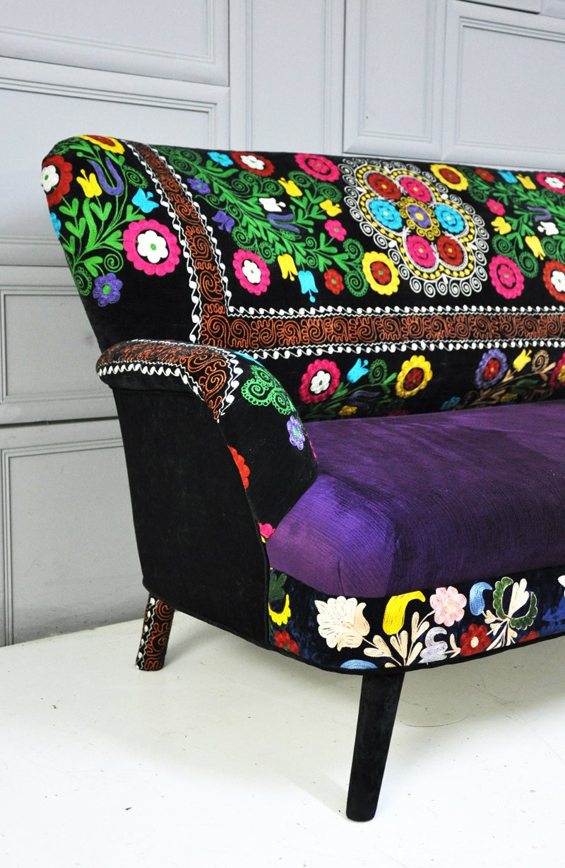 patchwork sofa with suzani fabrics 2. Black Bedroom Furniture Sets. Home Design Ideas