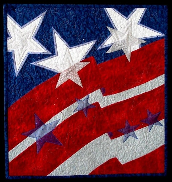Old Glory contemporary quilt pattern