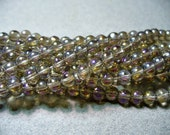 Glass Beads Golden Peacock  Round 6MM