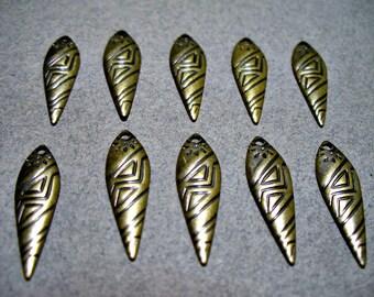 Antique Brass Drops 20MM