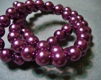 Glass Pearls Wine 8mm