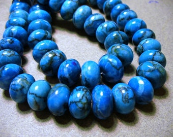 Web Jasper Beads Gemstone Blue Rondelle 12x8MM