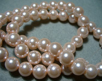Glass Pearls Light Pink 8mm