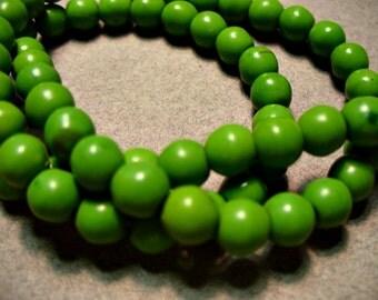 Green Magnesite Beads Gemstone Round 6MM