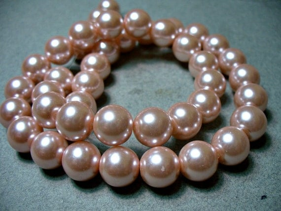 Glass Pearls Dusty Pink Round 10MM