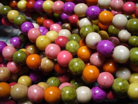 Magnesite Beads Gemstone Mixed Colors Round 6MM