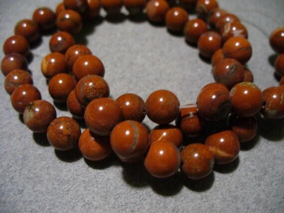 Red Jasper Beads Gemstone Round 6MM