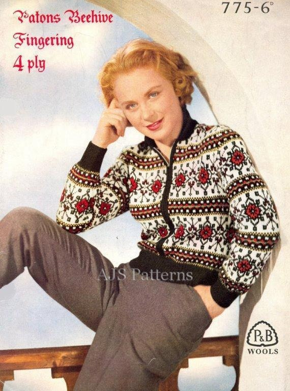 PDF Knitting Pattern for a Traditional German Design Fair Isle