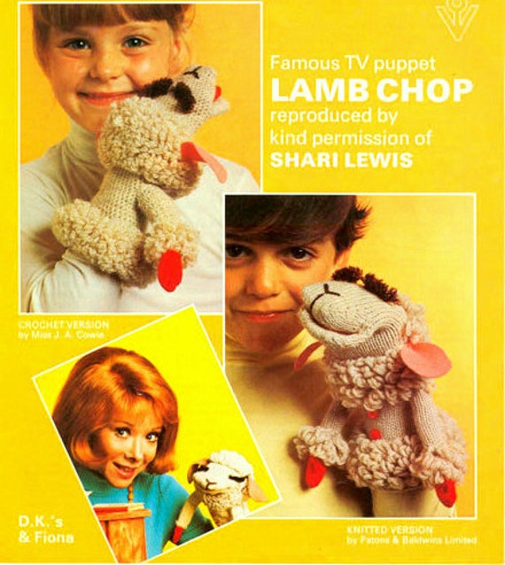 PDF Knitting Patterns for Hush Puppy and Lambchops Hand Puppets - Special Offer Deal