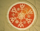 The Sun, Solar Symbols handpainted mandala patch