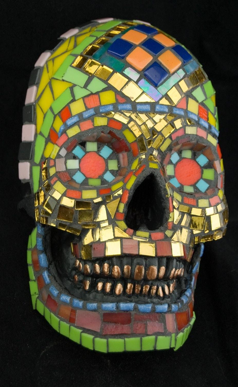 Skull Mask. Mosaic. Decorative. Life-size