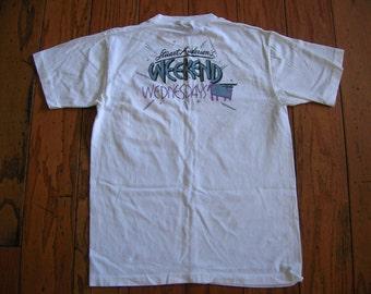 Vintage 1980s Stuart Anderson The Square Cow T-shirt Size Large