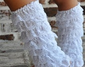 White Petti Lace Leg Warmers