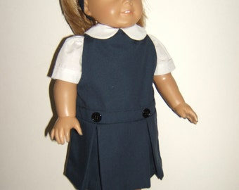 18 inch Doll Navy/Khaki/Grey School Jumper