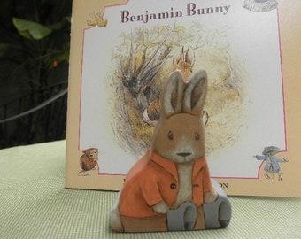 Wood Toy Benjamin Rabbit- Beatrix Potter Story Book Series