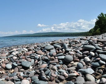 Rocky Shore, Nature Photography, Matted Landscape Photography