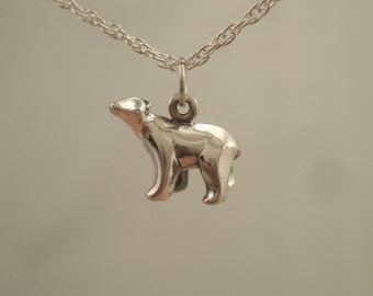 silver polar bear charm/ pendant