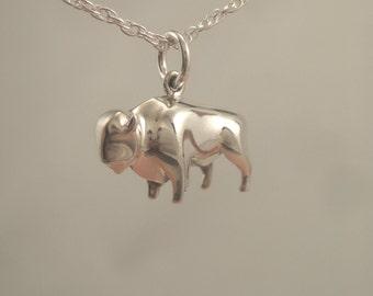 silver buffalo  pendant/ charm
