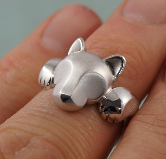 sterling Leaping puma ring