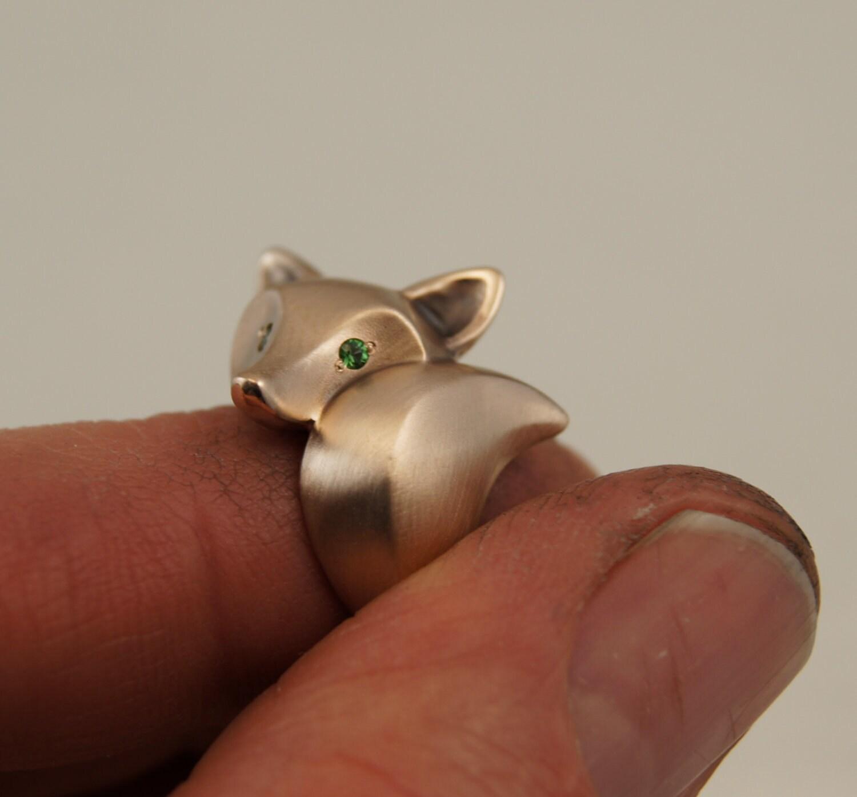 fox ring bronze pick your eye color. Black Bedroom Furniture Sets. Home Design Ideas