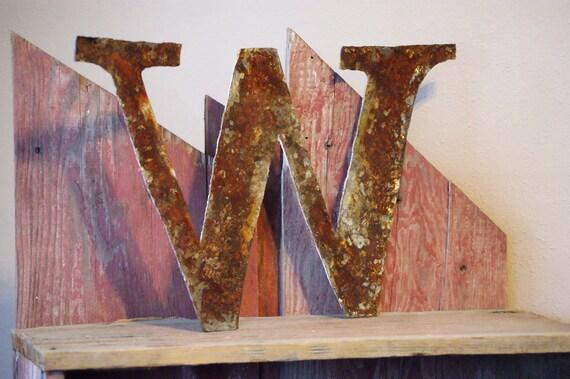 "Rustic Metal Letter ""W"""