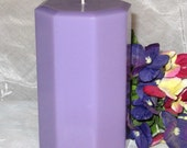 Pillar candle Love Spell type scent octagon shape 3x5