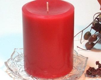 Pillar candle Hot Apple Pie scent 3x4