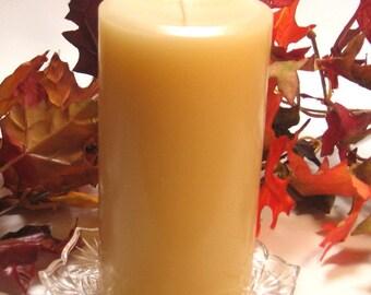 Pillar candle Vanilla Bean scent 3x6 paraffin