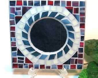 Stained glass mosaic candle holder for pillars