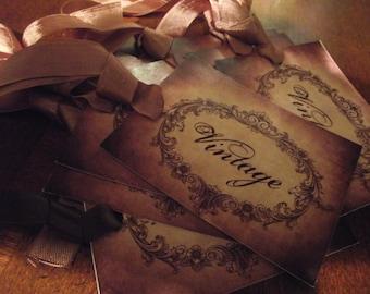 Distress    Vintage    Gift    Tags