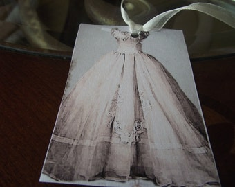 French Gift Tags For Part Favors  Gift Giving   Weddings  Bridal Shower Scrap Booking Bookmarks