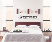 Happiness is being married to Your Best Friend - Vinyl Wall Quote Decal