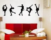 Figure Skating Vinyl Wall Art Decal