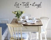 SIT long TALK much LAUGH often Wall Quote Decal