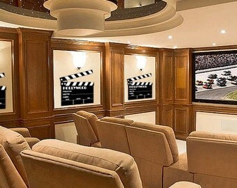 Movie Clapboard - Vinyl Wall Decal for Home Theater