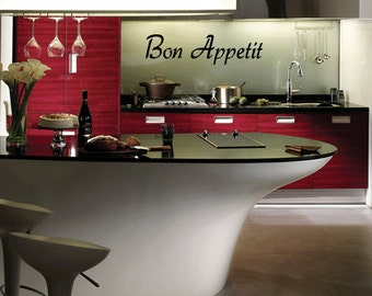 Bon Appetit - Vinyl Wall Quote Decal