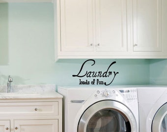 Laundry Room 3 - Vinyl Wall Quote Decal