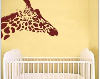 BIG Giraffe Vinyl Wall Art Decal