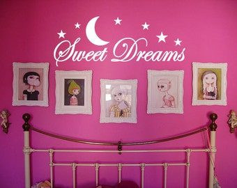 Sweet Dreams ver.2 - Vinyl Wall Quote Decal