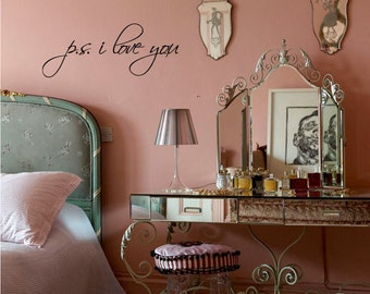 BIG P.S. I Love You - Vinyl Wall Quote Decal