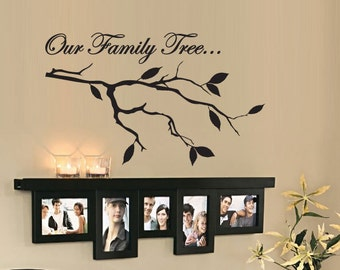Our Family Tree - Vinyl Wall Quote Decal