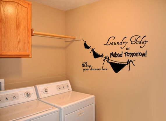Laundry Room Vinyl Wall Quotes Enchanting Laundry Room 4 Vinyl Wall Quote Decal 2017
