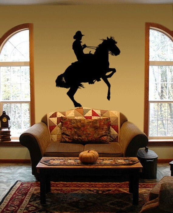 BIG Cowboy Horse Vinyl Wall Art Decal