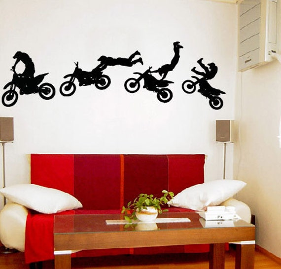 MOTOCROSS TRICK Wall Decals