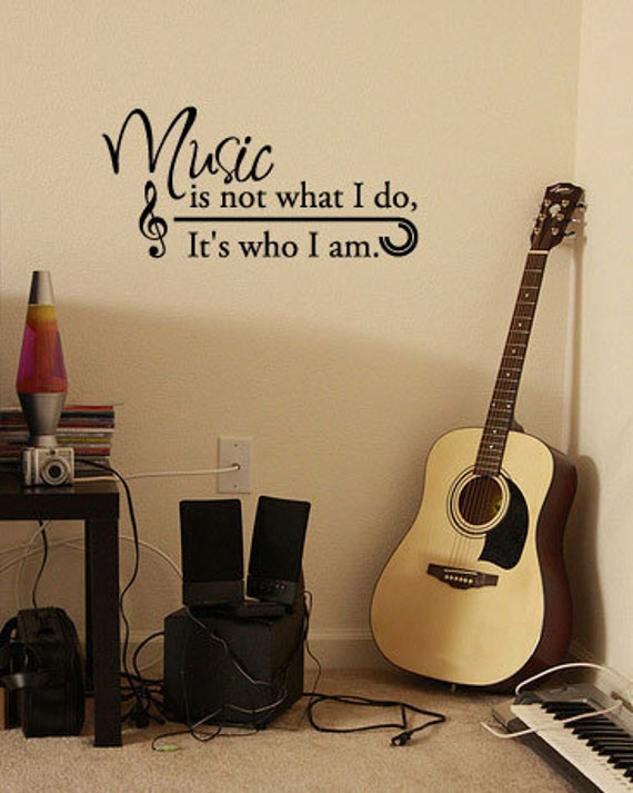 BIG Music is not what I do, It's who I am - Vinyl Wall Quote Decal