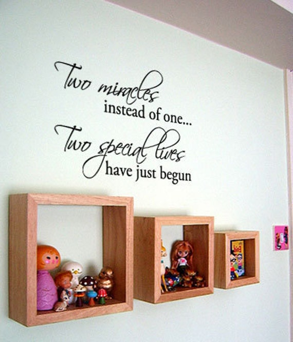 10 Rooms Decorated In Just One Colour: Two Miracles Instead Of One... Twins Baby Room Decor Vinyl