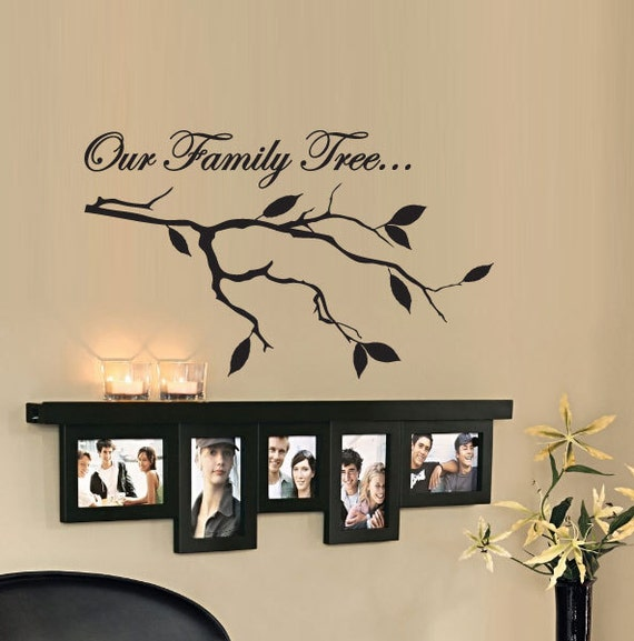 Our family tree vinyl wall quote decal - Family room wall decor ideas ...