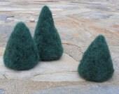 Felt Trees Woodland Set / Needle Felted Waldorf Wool Toys / Nature Table, Nativity, Doll House / Miniature Pine Evergreens