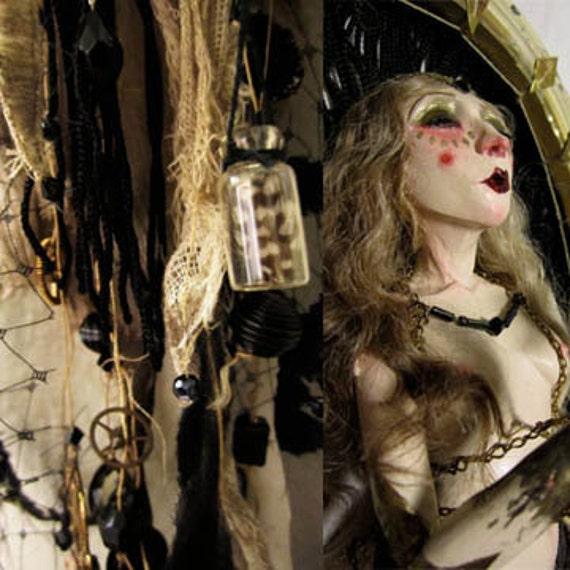 """SALE---- Ooak Art Doll Sculpture -""""Seeking"""""""
